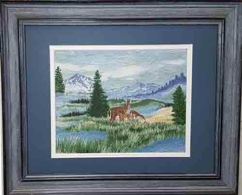 landscape quilt by Joyce R. Becker