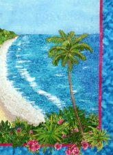 coastal scene landscape quilt