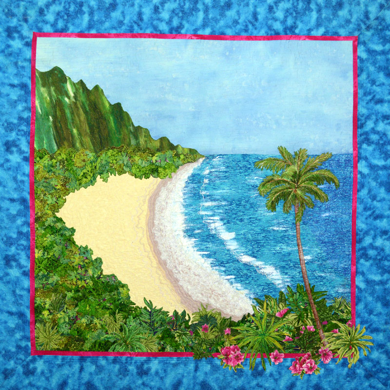 Hawaii themed art quilt
