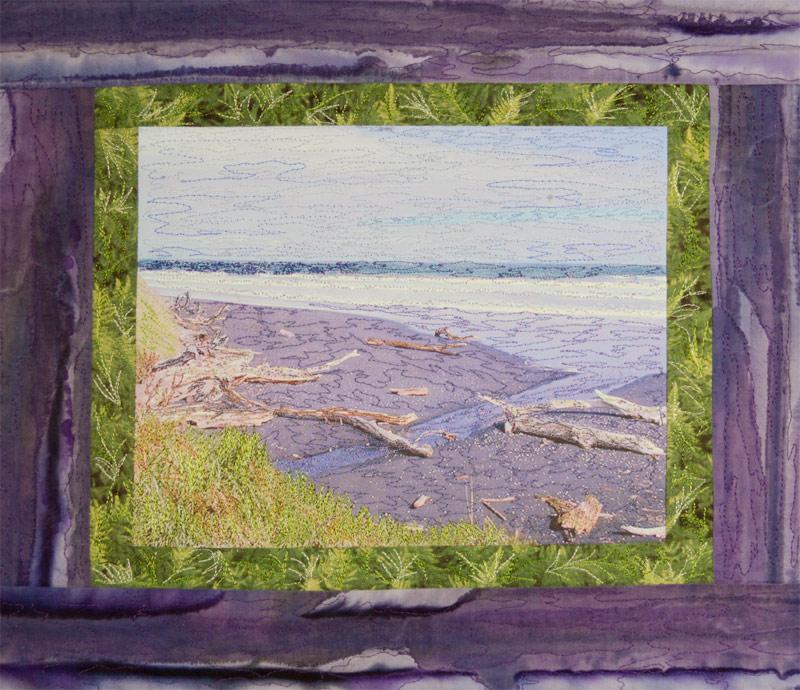 beack landscape quilt by Joyce R. Becker
