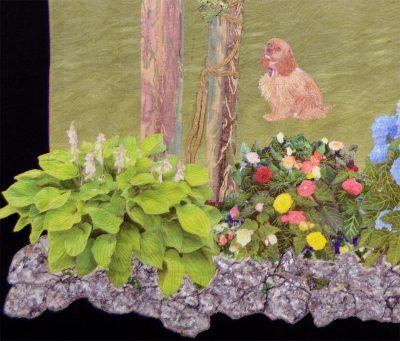 Floral landscape quilt by Joyce R. Becker