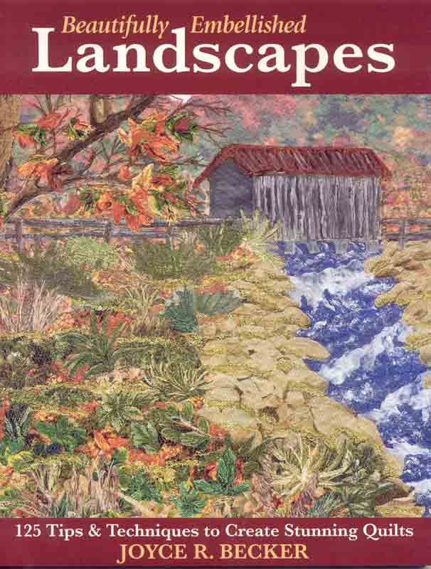 covered bridge fiber art landscape on book cover