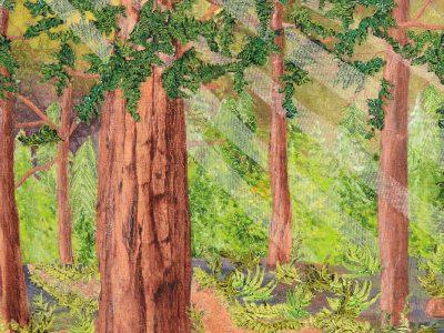 woodland art quilt