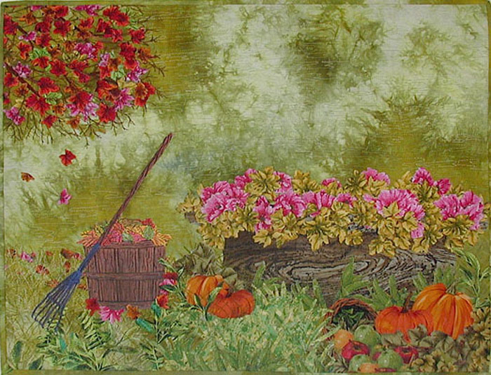 Fall scene Art quilt by Joyce Becker