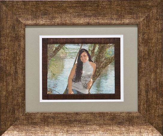 portrait quilt - photo printed on fabric