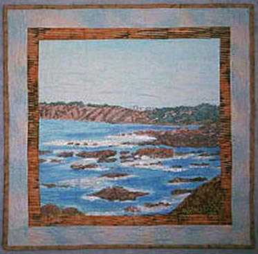 seascape art quilt  by Joyce R. Becker