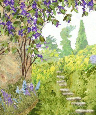 Garden themed art quilt