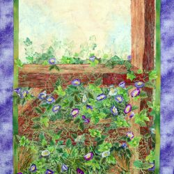 Morning Glories Climbing Over the Gate