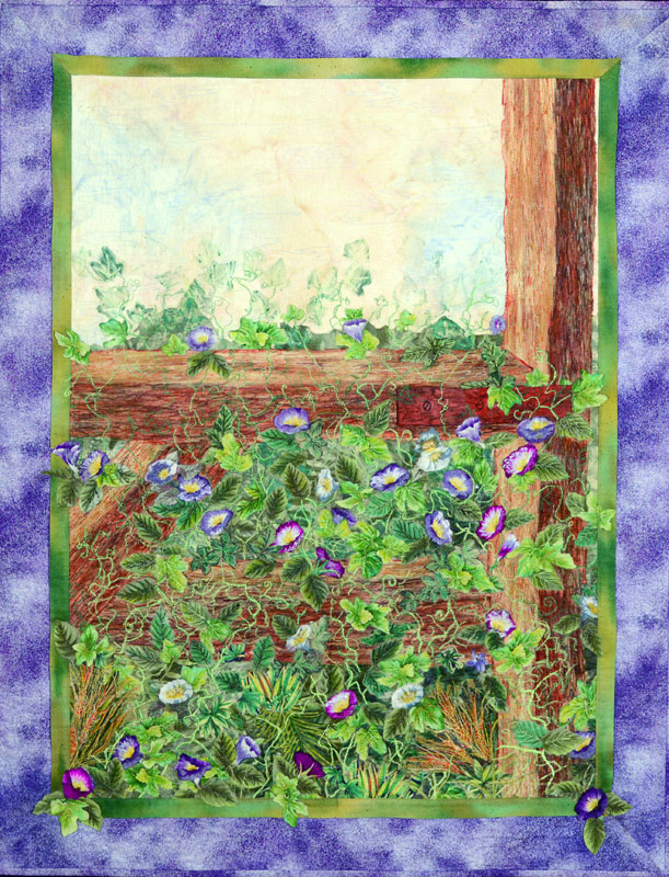Floral quilt by Joyce R. Becker