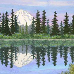 Mt. Rainier Reflecting in Tipsoo Lake