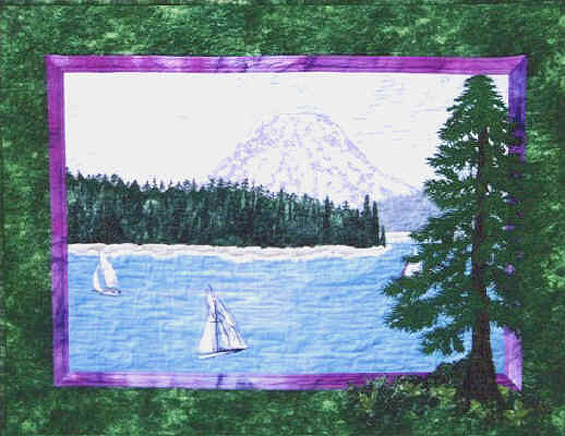 Safe Harbor art quilt by Joyce R. Becker
