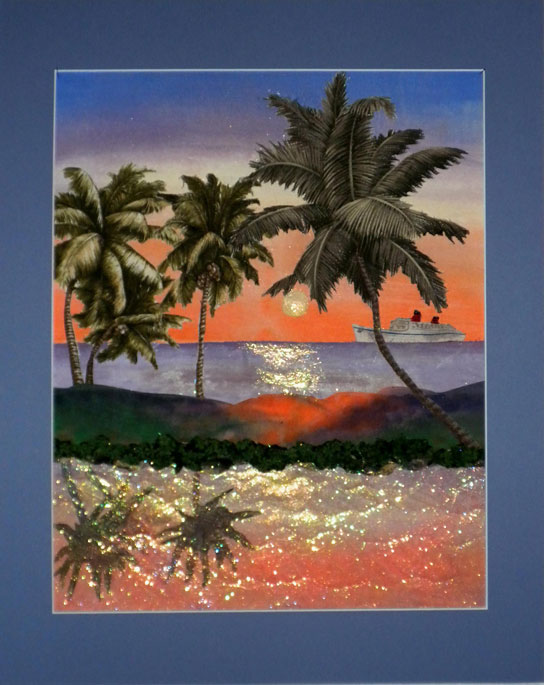Tropical Sunset art quilt by Joyce R. Becker