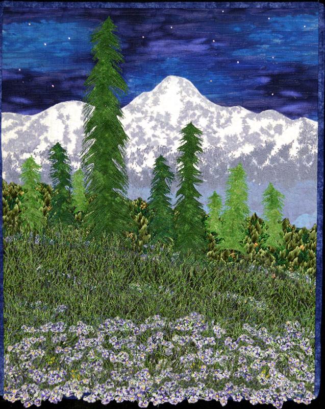 Mt. Rainier landscape quilt by Joyce R. Becker